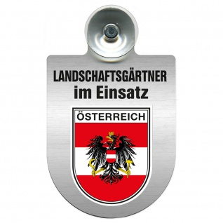 Einsatzschild Windschutzscheibe incl. Saugnapf - Landschaftsgärtner im Einsatz - 309375 - Region Österreich