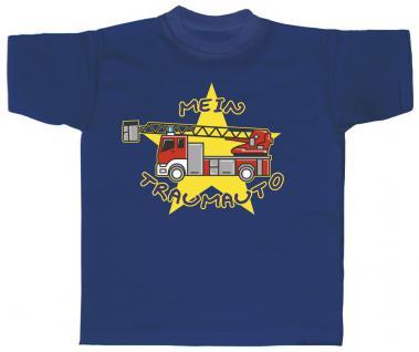 Kinder T-Shirt mit Print - Mein Traumauto - 06908 - royalblau - Gr. 134/146 - Vorschau