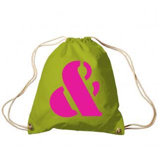 """Trend-Bag Turnbeutel Sporttasche Rucksack mit Print """"&"""" 65091-&"""