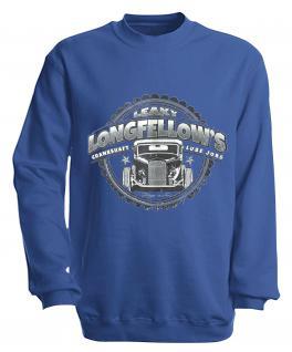 Sweatshirt mit Print - Longfellows - versch. farben zur Wahl - S10281 - Gr. Royal / XXL
