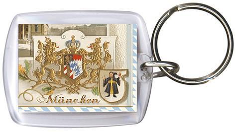 Schlüsselanhänger - Gr. ca. 60x40mm - Bayern - München - 13234