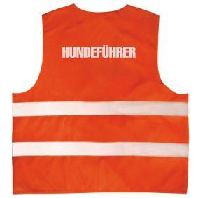 Warnweste mit Aufdruck - HUNDEFÜHRER - 10338 orange Gr. S-4XL - Vorschau
