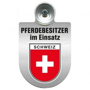 Einsatzschild mit Saugnapf Pferdebesitzer im Einsatz 393830 Region Schweiz