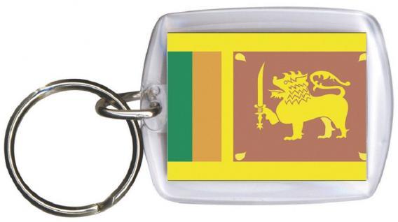 Schlüsselanhänger Anhänger - SRI LANKA - Gr. ca. 4x5cm - 81155 - Keyholder WM Länder