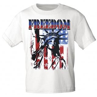 T-SHIRT Print USA Freedom Freiheitsstatue Amerika 10983 Gr. weiß / XL