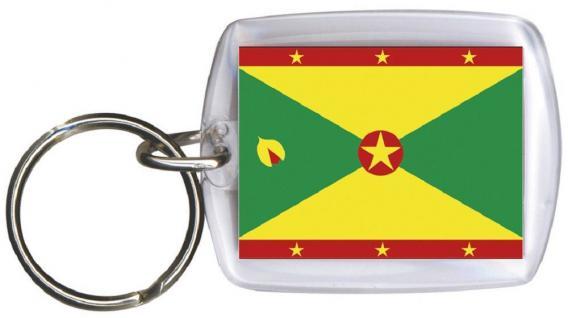 Schlüsselanhänger Anhänger - GRENADA - Gr. ca. 4x5cm - 81055 - WM-Länder