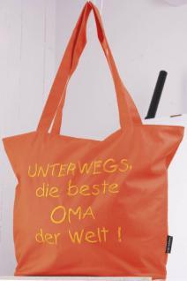 Umhängetasche mit Einstickung - orange - Beste Oma der Welt - 08976 - Einkaufstasche Bag