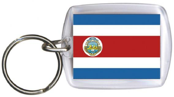 Schlüsselanhänger - COSTA RICA - Gr. ca. 4x5cm - 81038 -WM Länder