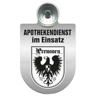 Einsatzschild Windschutzscheibe incl. Saugnapf - Apothekendienst im Einsatz - 309397-19 Region Preussen