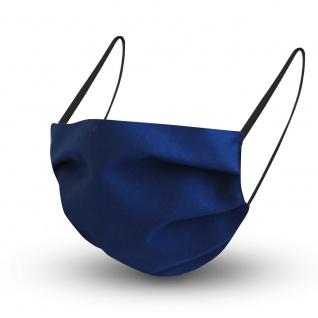 Design Maske aus Baumwolle mit zertifiziertem Innenvlies - DUNKELBLAU - 15432 + Gratiszugabe