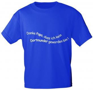 Kinder T-Shirt mit Aufdruck - Danke Papa ... - 06980 - blau - Gr. 152/164