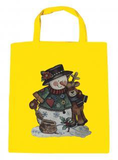 (08903/1-gelb) Umweltfreundliche Baumwoll - Tasche , ca. 28 x 43 cm mit Aufdruck