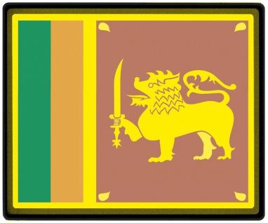 Mousepad Mauspad mit Motiv - Sri Lanka Fahne - 82155 - Gr. ca. 24 x 20 cm