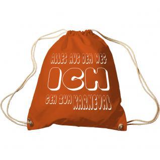 Trend-Bag Turnbeutel Sporttasche Rucksack mit Print - Alles aus dem Weg ich geh zum Karneval - TB65172
