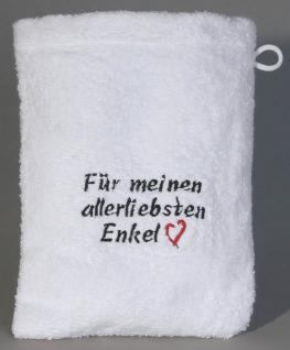 Waschhandschuh - Waschlappen - für meinen allerliebsten Enkel - 31202 - ca 20 x 16 cm
