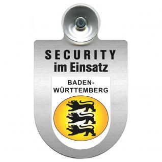 Einsatzschild Windschutzscheibe - Security im Einsatz - incl. Regionen nach Wahl - 309350 Region Baden-Württemberg