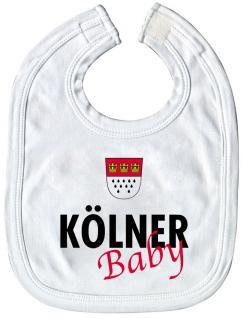 Baby-Lätzchen mit Druckmotiv - Kölner Baby - 08412 - weiss
