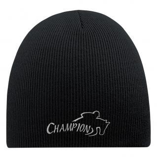 Beanie-Mütze Mit Einstickung - CHAMPION - Wollmütze Wintermütze Strickmütze - 54820 schwarz