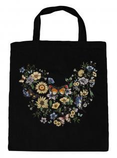 (U09840)Umweltfreundliche Baumwoll - Tasche , ca. 28 x 43 cm mit Aufdruck in 7 Farben schwarz