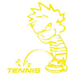 Pinkelmännchen-Applikations- Aufkleber - ca. 15 cm - Tennis - 303643 - gelb