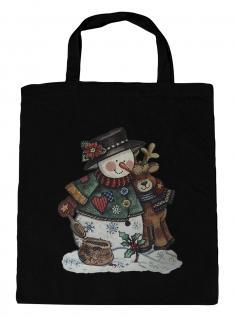 (08903/1-schwarz) Umweltfreundliche Baumwoll - Tasche , ca. 28 x 43 cm mit Aufdruck