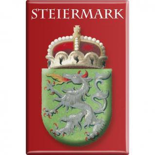 Kühlschrankmagnet - Wappen Steiermark - Gr. ca. 8 x 5, 5 cm - 38113 - Küchenmagnet