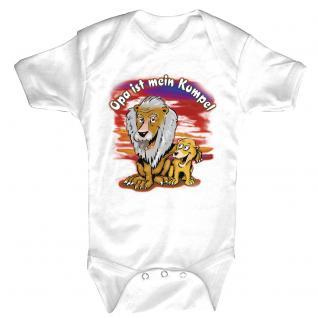 Babystrampler mit Print - Opa ist mein Kumpel - 08315 versch. Farben Gr. weiß / 6-12 Monate