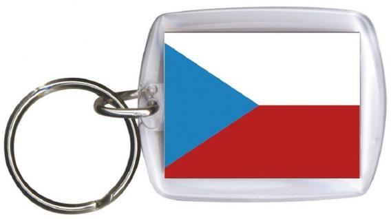 Schlüsselanhänger Fob for Key - TSCHECHIEN - Gr. ca. 4x5cm - 81172 - Anhänger WM Länder