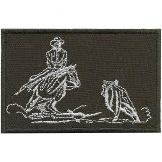 AUFNÄHER - Western - 00009 - Gr. ca. 6 x 5 cm - Patches Stick Applikation