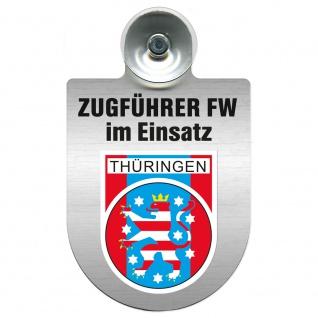 Einsatzschild Windschutzscheibe incl. Saugnapf - Zugführer Feuerwehr im Einsatz - 309749 - Region Thüringen