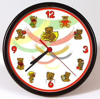 Wanduhr - Uhr - Clock - batteriebetrieben - Teddybären - Größe ca 25 cm - 56725