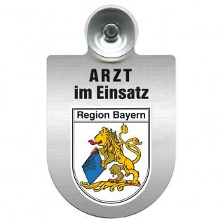 Einsatzschild Windschutzscheibe incl. Saugnapf - Arzt im Einsatz - 309352 Region Bayern