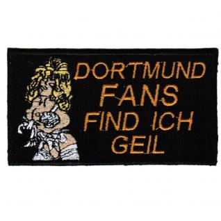 AUFNÄHER - Dortmund - 20619 - Gr. ca. 10 x 5, 5 cm - Patches Stick Applikation