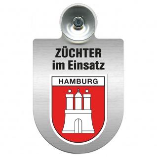 Einsatzschild Windschutzscheibe incl. Saugnapf - Züchter im Einsatz - 309384 Region Hamburg