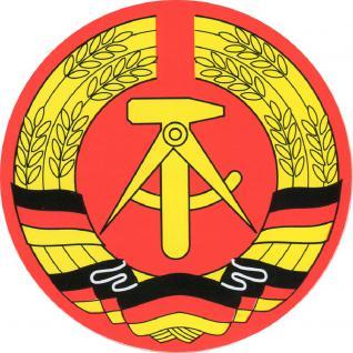 Aufkleber - DDR Wappen - 301059/1 - Gr. ca. 8 cm - Vorschau