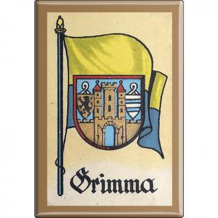 Küchenmagnet - Wappen Grimma - Gr. ca. 8 x 5, 5 cm - 37529 - Magnet Kühlschrankmagnet