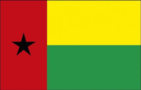 Autoscheiben-Fahne - Guinea-Bissau - Gr. ca. 40x30cm - 78059 - Flagge mit Klemmstab - Autoländerfahne