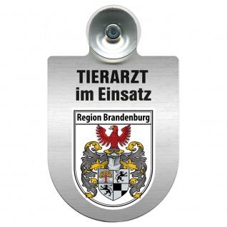 Einsatzschild Windschutzscheibe incl. Saugnapf - Tierarzt im Einsatz - 309390 Region Brandenburg