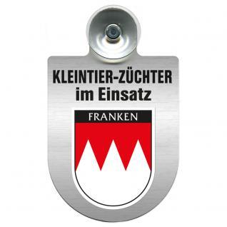 Einsatzschild Windschutzscheibe incl. Saugnapf - Kleintierzüchter im Einsatz - 309360-18 Region Franken