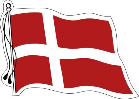 Aufkleber Autoaufkleber Länderfahne wehend - Denmark - Dänemark - 301332 - Gr. ca. 95mm x 70mm
