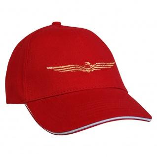 Baseballcap mit Einstickung Military Abzeichen 68219 rot
