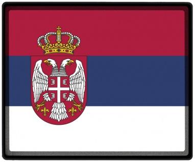 Mousepad Mauspad mit Motiv - Serbien Fahne - 82146 - Gr. ca. 24 x 20 cm
