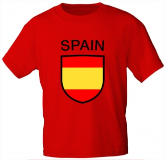 Kinder T-Shirt mit Print - Spain - Spanien - 76154 - rot - Gr. 110/116