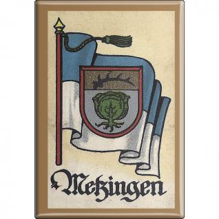 Küchenmagnet - Wappen Metzingen - Gr. ca. 8 x 5, 5 cm - 37537 - Magnet Kühlschrankmagnet