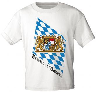 T-Shirt mit Print - Freistaat Bayern - 10902 weiß - Gr. S