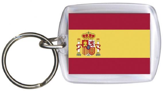 Schlüsselanhänger Anhänger - SPANIEN - Gr. ca. 4x5cm - 81154 - Keyholder WM Länder