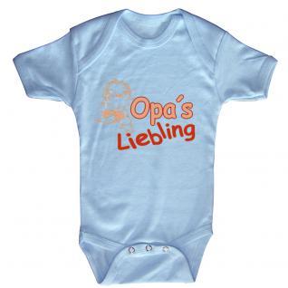 Babystrampler mit Print ? Opa´s Liebling - 08301 versch. Farben Gr. hellblau / 18-24 Monate