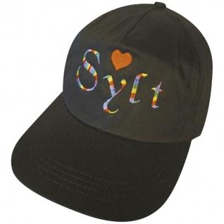 Baseballcap mit Einstickung - SYLT - 68004 schwarz