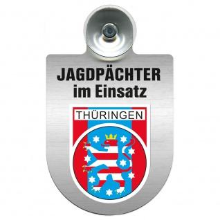 Einsatzschild Windschutzscheibe incl. Saugnapf - Jagdpächter im Einsatz - 09757 - Region Thüringen