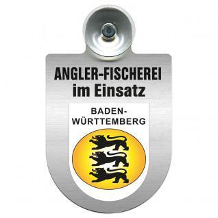 Einsatzschild Windschutzscheibe incl. Saugnapf - Angler-Fischerei im Einsatz - 309373-1 - Region Baden-Württemberg